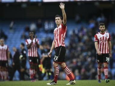 File image of Southampton's players. AFP