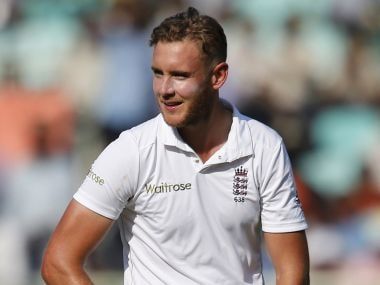 File photo of England pacer Stuart Broad. AP