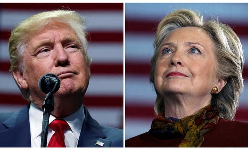 U.S. presidential candidates Donald Trump and Hillary Clinton. Reuters