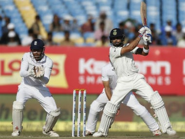 Virat Kohli hit six boundaries during his 98-ball innings of 49. AP