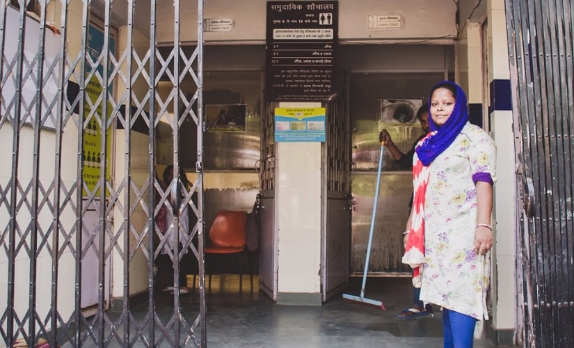 Meet Sadrulnisha, she manages the ladies section of the community toilet which has provided safety and dignity to thousands of community women. With a monthly or daily fees, the community toilets, which remain open 24x7, can also be used for bathing and washing clothes. The job helps her earn Rs.8000/- per month and support her children's education.