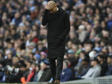 Guardiola was disappointed by Manchester City's draw against Middlesbrough. AFP