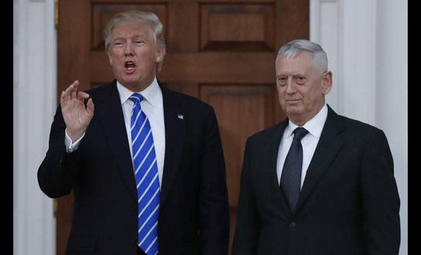 President-elect Donald Trump with retired Marine Corps Gen. James Mattis. AP