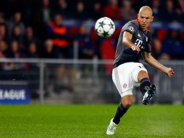 Arjen Robben eyes success against Arsenal. Reuters