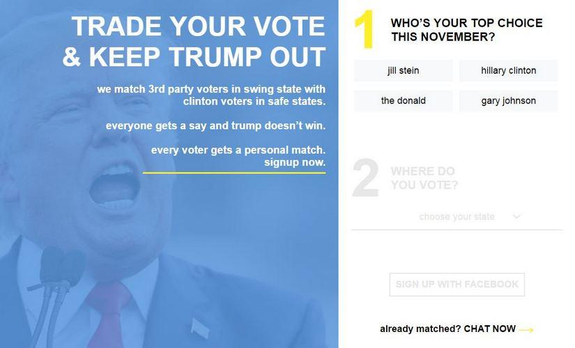 Screengrab of the website.