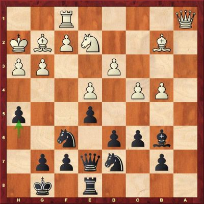 This little h-pawn push had great power as it looked to soften up White's kingside.