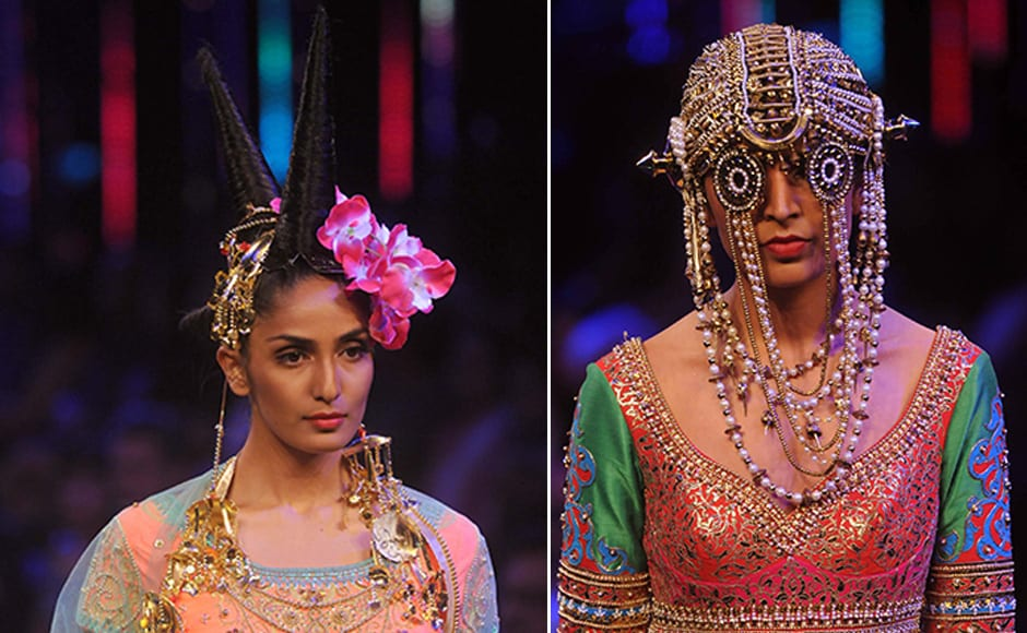 Models flaunted Arora's inimitabe designs on the ramp. Images by Sachin Gokhale / Firstpost