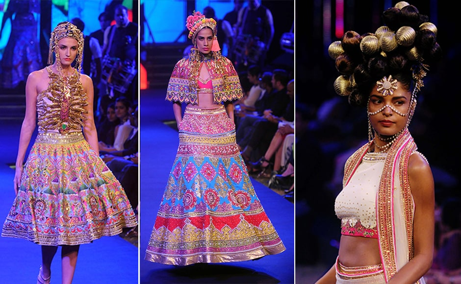 Manish Arora recently exhibited a new collection at the Blenders Pride Fashion Tour, held in Mumbai over the 10-11 December weekend. Images by Sachin Gokhale/Firstpost