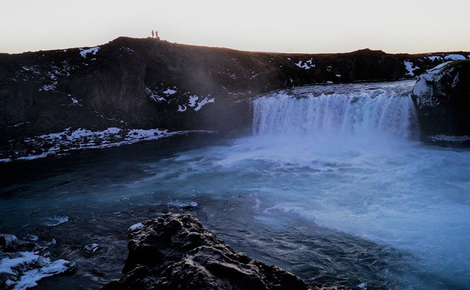 Goðafoss falls which is in north central Iceland and descends from a height of 12 metres. Photo credit: Alok Raj