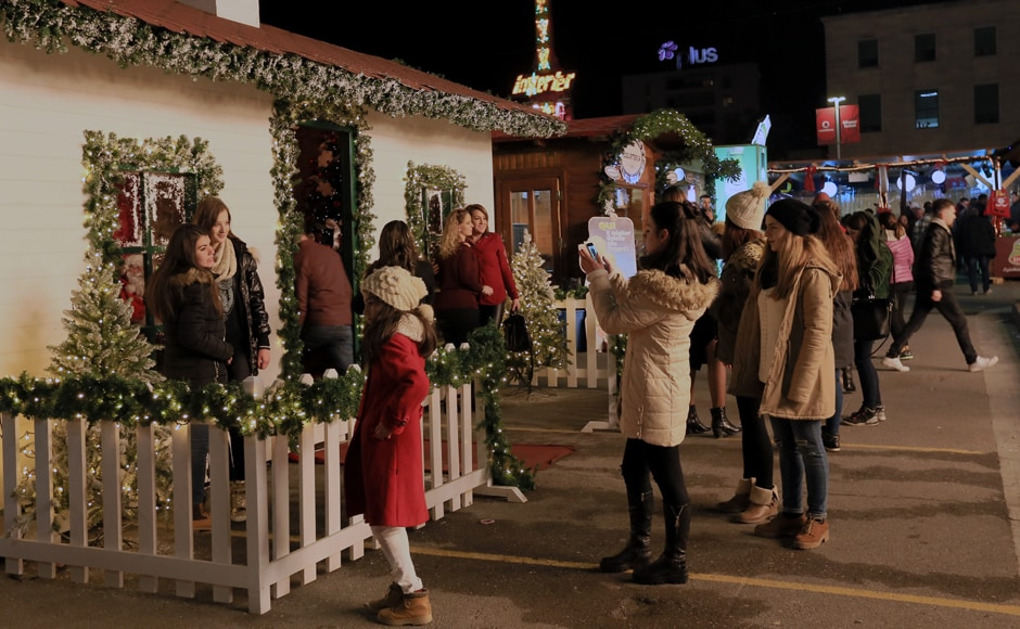 However, in Albania's capital Tirana it was all joy and gaiety as the city's Mother Teresa Square in central Tirana was decked up with Christmas decorations. People took selfies and enjoyed the festivities on the Christmas. AP