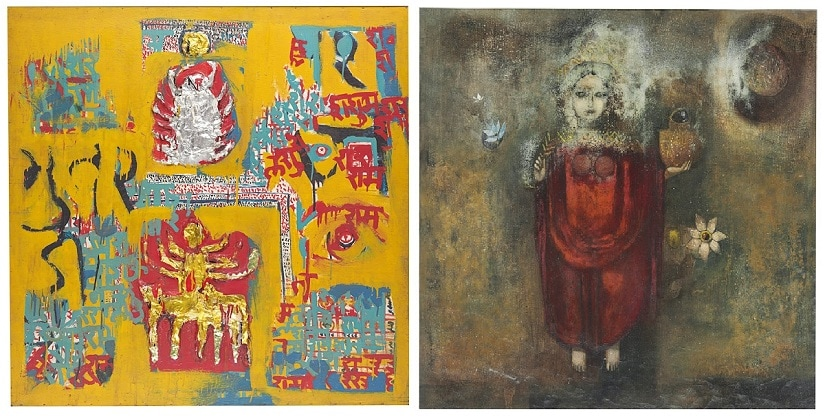 SH Raza, Akbar Padamsee: Indian masters works go under the hammer at Christies annual  art sale