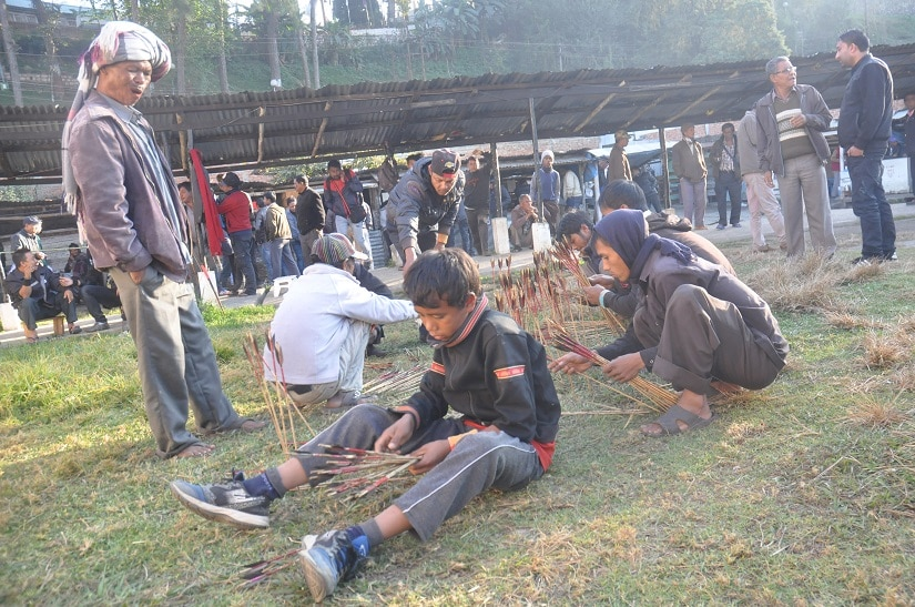 The archers come from the villages around Shillong and belong to all age groups