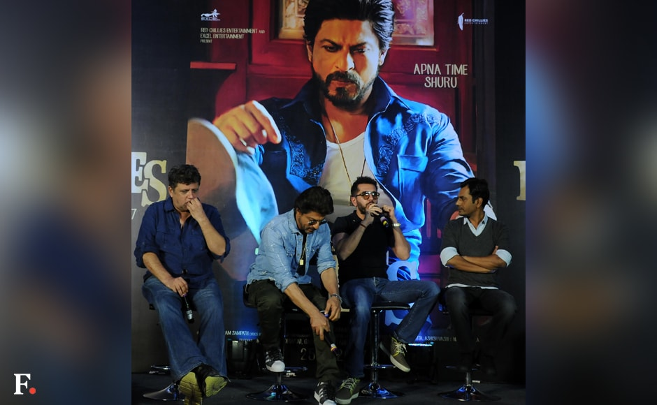 The trailer launch of Raees was much-awaited as it was initially scheduled to happen on Shah Rukh Khan's birthday. Sachin Gokhale /Firstpost