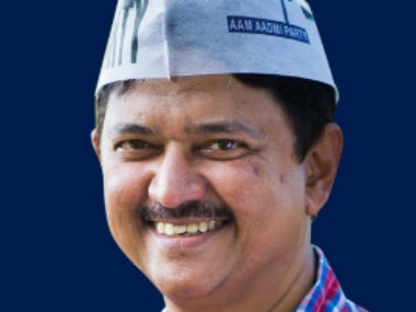 Goa CM candidate Elvis Gomes. Photo courtesy: @AamAadmiParty