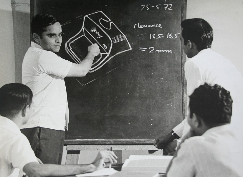Design Team at Godrej, 1972. Photo courtesy: Godrej Archives