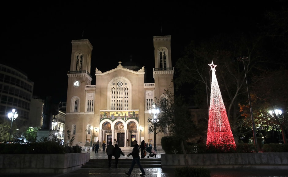 Meanwhile, in debt-ridden Greece, Christmas celebrations remained sombre in the face of the ongoing economic crisis. Finance Minister Euclide Tsakalotos sent Christmas cards featuring the tight-fisted Dickensian protagonist of