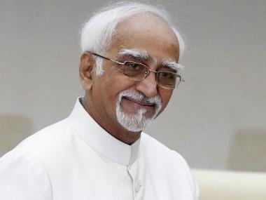 Former vice-president Hamid Ansari. Reuters