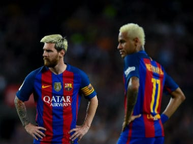 File photo of Lionel Messi and Neymar. Getty Images