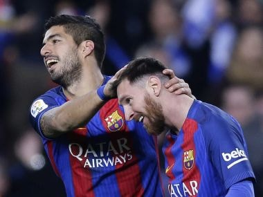 La Liga Lionel Messi Must Be Handed A New Deal By Barcelona Says Team Mate Luis Suarez Sports News Firstpost
