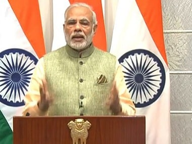 Screenshot of PM Modi during his New Year's Eve address