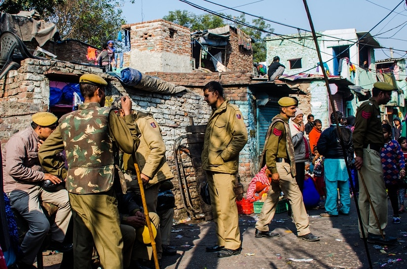 Over 500 police and paramilitary were deployed