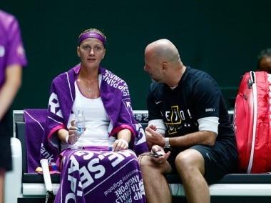 File photo of Petra Kvitova with her ex-coach David-Kotyza, who is now with Karolina Pliskova. Getty