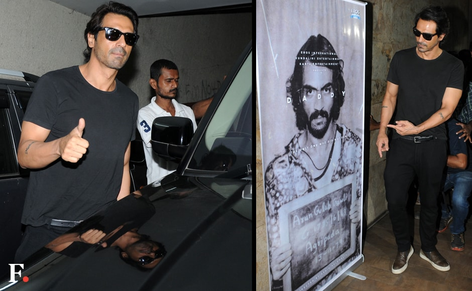 Bollywood actor Arjun Rampal during the special screening of the teaser of film Daddy in Mumbai, India on November 30, 2016. Sachin Gokhale/Firstpost