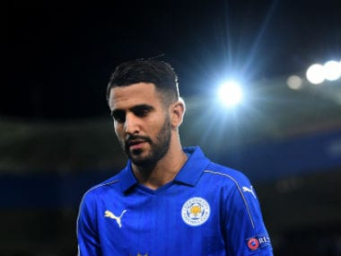 File image of Leicester City's Riyad Mahrez. Getty Images