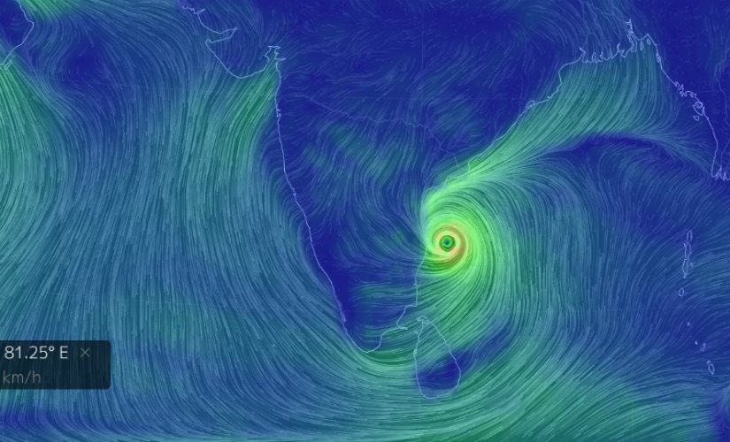 Click on this image to see the visualisation of the storm.