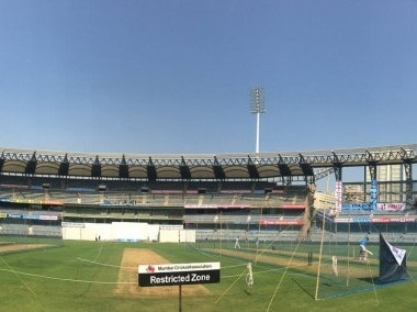 Wankhede Stadium ahead of the 4th India vs England Test match. Image courtesy: Twitter/@BCCI
