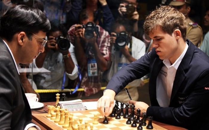 The match against Magnus Carlsen was one of the most popular sporting events in India and was broadcasted live on Indian national television.