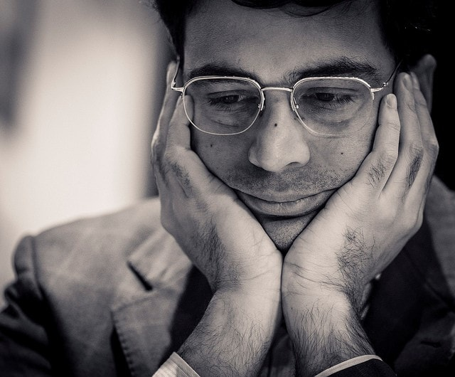 Anand was in an aggressive mood but the position didn't warrant such drastic measures (image courtesy: Lennart Ootes)