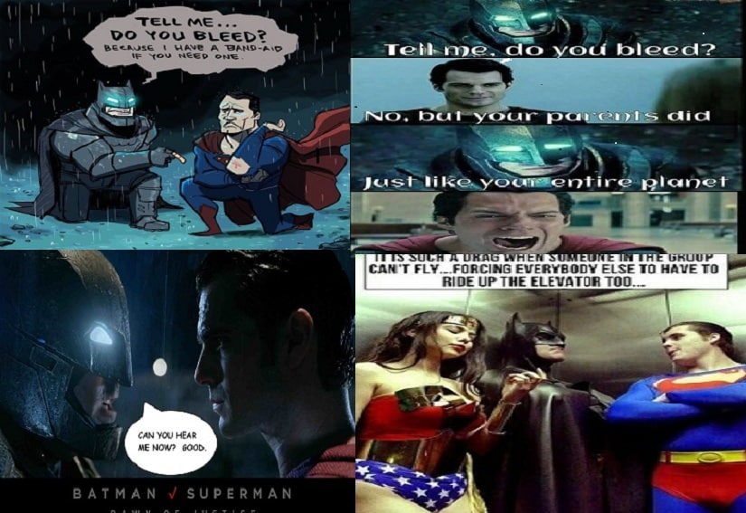 Examples of memes targeted at Batman and Superman after the Martha debacle.