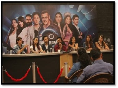 The press conference on the sets of 'Bigg Boss 10' on Colors TV