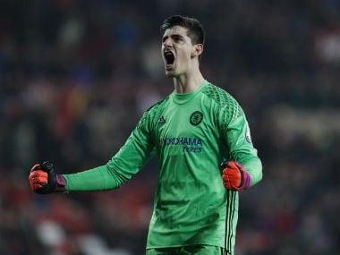 File image of Chelsea goalkeeper Thibaut Courtois. AFP