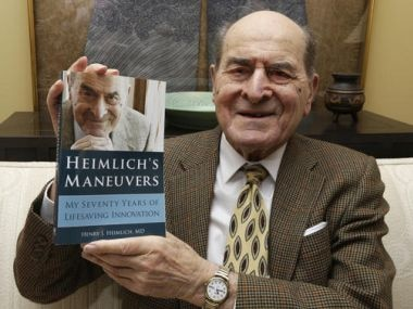 Henry Heimlich, creator of life-saving maneuver, dies at 96