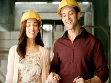 Yami Gautam and Hrithik Roshan in a still from Kaabil