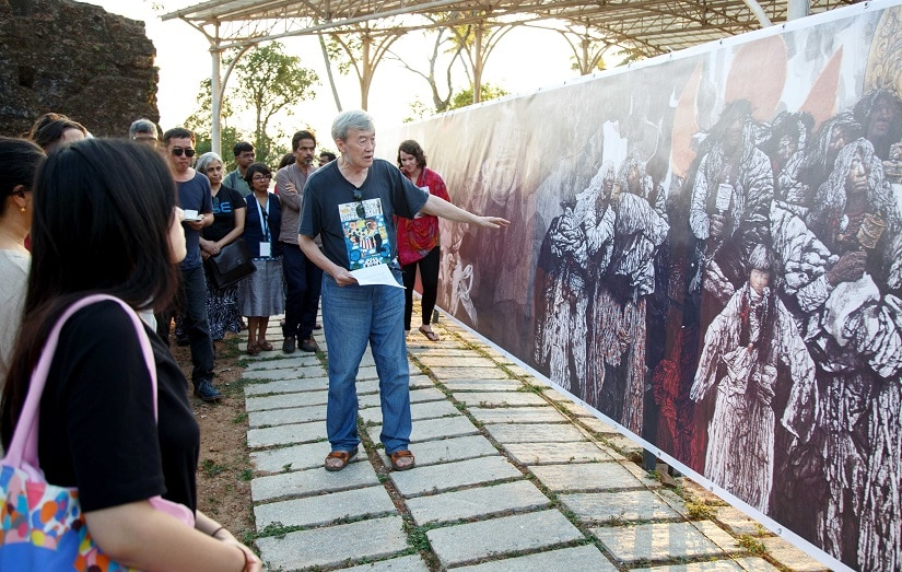 Chinese scholar Li Tuo details the work that the late artist Li Bo'an put into 'Walking Out of Bayan Har', the scroll painting exhibited at Kottapuram Fort