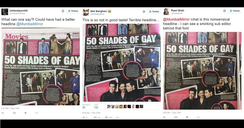 Fifty shades of black and white: Why a headline about Manish Malhotras birthday bash had Twitter fuming