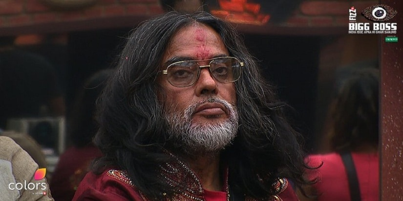 Om Swami is issued a warning by Bigg Boss. Image: Twitter