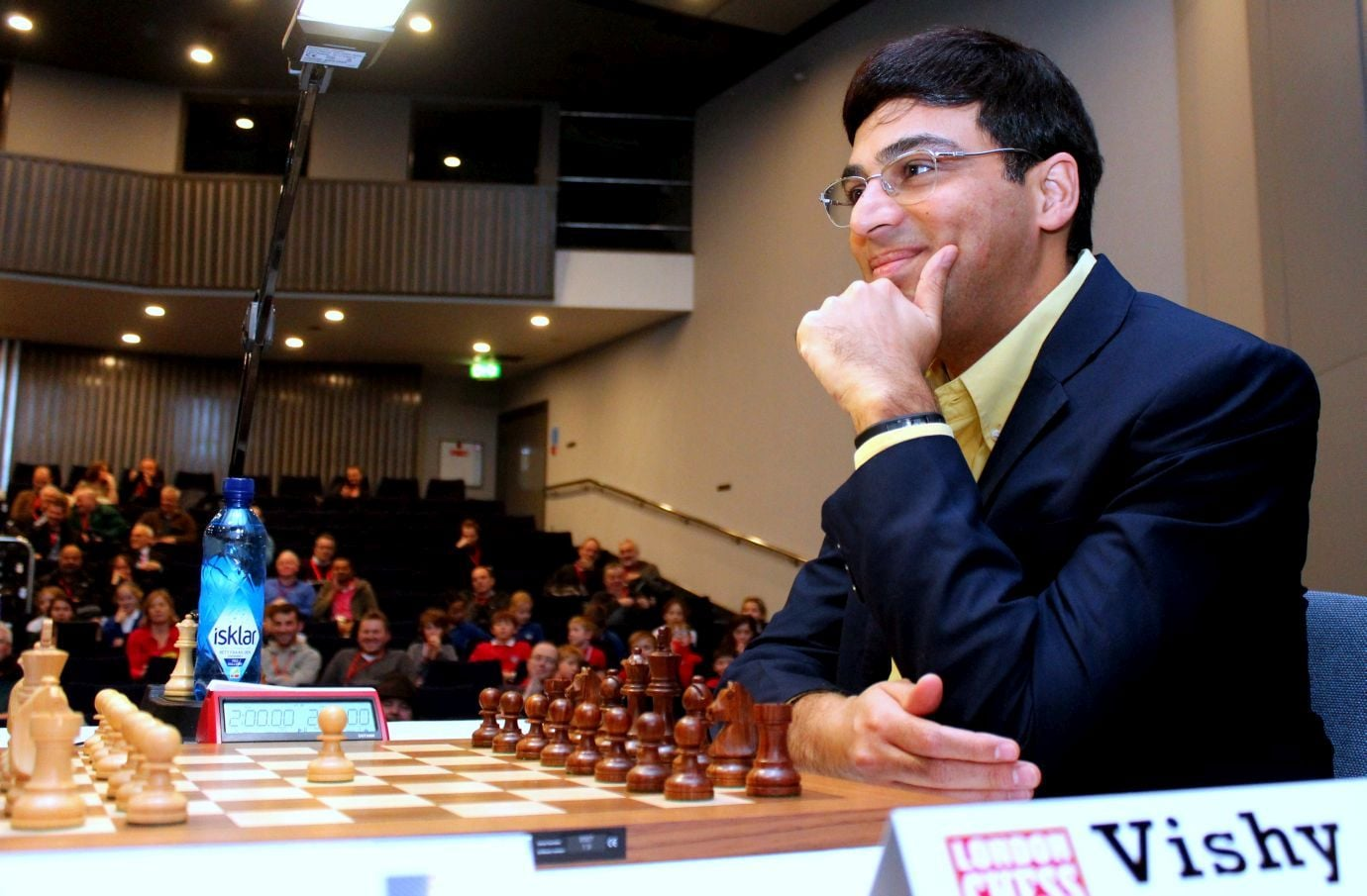 Anand has been celebrating his birthday at the London Chess Classic since 2010. On 11 December 2016 he will turn 47. (Image courtesy Amruta Mokal)