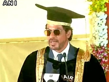Shah Rukh Khan receives doctorate from Maulana Azad National Urdu University in Hyderabad