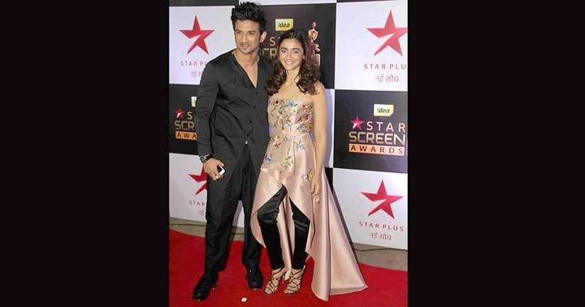 Sushant Singh Rajput and Alia Bhatt won two of the top honours at the Screen awards Image Courtesy: Solaris