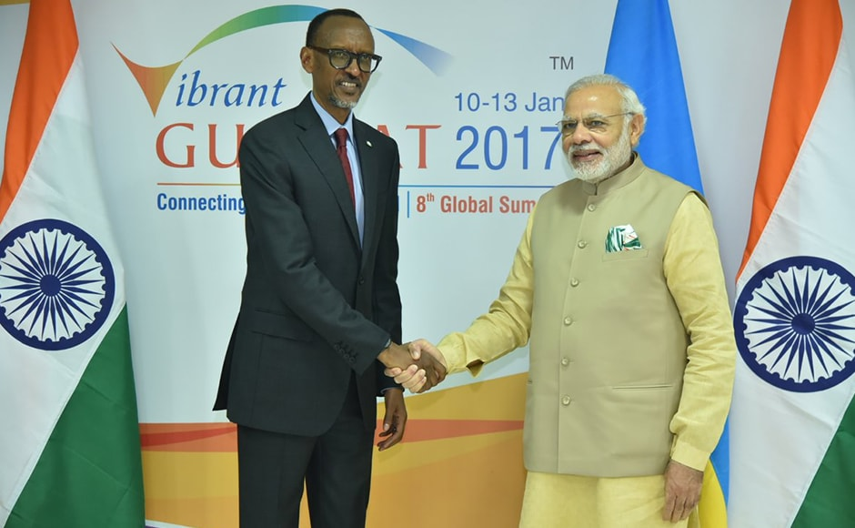 President @PaulKagame and PM @narendramodi discussed various aspects of India-Rwanda ties during their meeting today. @UrugwiroVillage (PMO India Twitter)