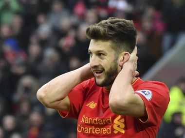 File photo of Adam Lallana. AFP
