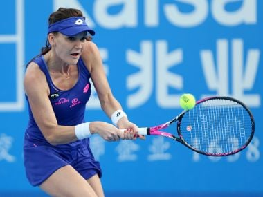 Agnieszka Radwanska in action at the Shenzhen Open. Getty