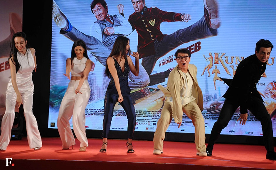 Jackie Chan stands out with his energy and expressions. Firstpost/Sachin Gokhale