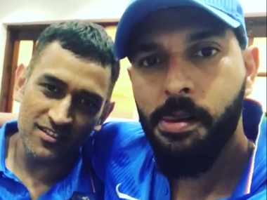 Screengrab of video uploaded by Yuvraj Singh on his official Twitter account.