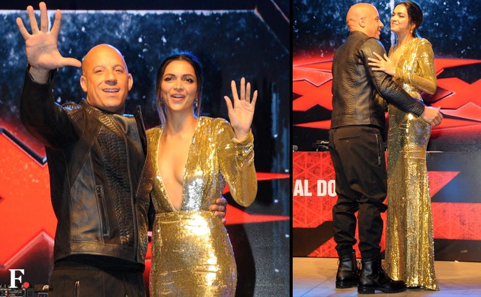 Vin Diesel and Deepika Padukone during the premiere of their film. Sachin Gokhale/Firstpost