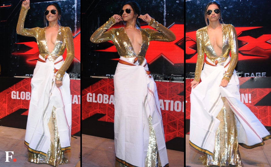 Deepika doing (a rather sexy) Lungi Dance. Sachin Gokhale/Firstpost